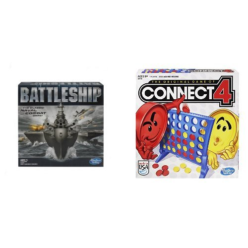 Hasbro Battleship Game and Connect 4 Game Bundle