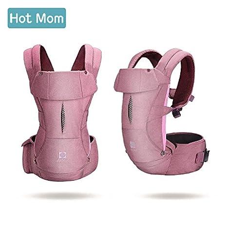 Hot Mom® comodidad bebé y portabebés con cintura taburete, abdomen y la espalda, 100% algodón