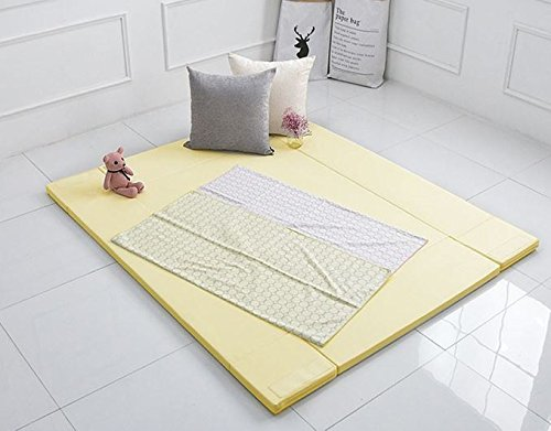 MAMING Speed Bumper Bed Eco friendly oversize Playmat (Cream Lemon) by Maming