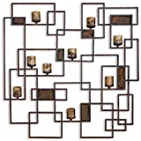 Cheap Uttermost 20850 Siam Metal Candlelight Wall Sculpture, Rustic
