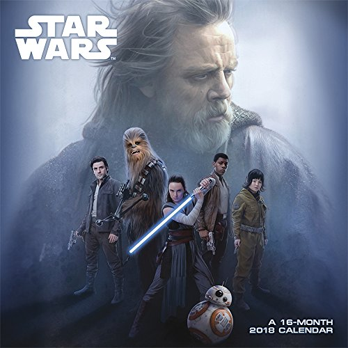 Star Wars Episode VIII The Last Jedi 2018 Wall Calendar