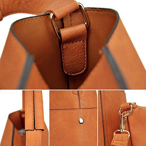 Hobo Tote Leather Bag Bag Handle 3pcs Purse Stone Vegan Shoulder Women Work 3PCS Handbags Top Designer wpFPXWq