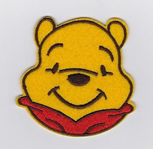 (Winnie the Pooh Cutie Pooh Bear head simle Embroidered Iron on / Sew On Patch supplier_patcheslin)