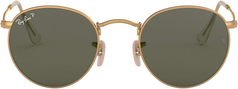 Ray-Ban Polarizan gafas de sol de Metal redondeos en oro verde RB3447 112/58 50