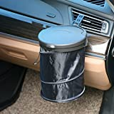 MRCARTOOL Car Garbage Can Pop Up Foldable Car Trash Bin Car Garbage Bag Auto litter bag, Portable Collapsible AUTO Trash Bag, Leak Proof AUTO Trash Bin
