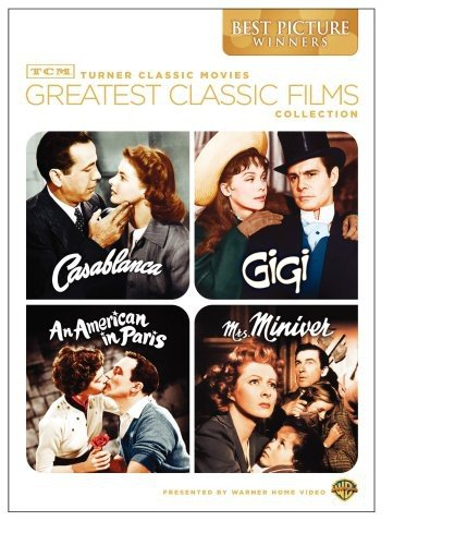 TCM Greatest Classic Films Collection: Best Picture Winners (Casablanca / Gigi / An American in Paris / Mrs. Miniver) (Classics Movie Dvd)