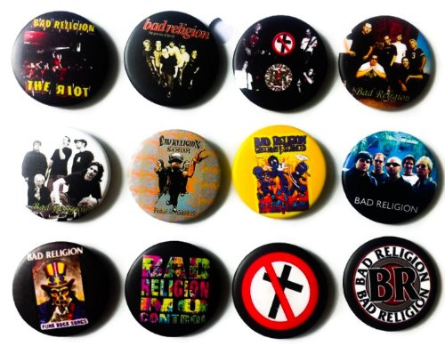 - Bad Religion fan Awesome Quality Lot of 12 New Pins Pinbacks Buttons Badge 1.25