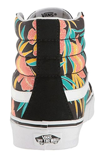 Vans SK8 Hi Slim Noir Multi Femmes Toile Skate Formateurs Chaussures