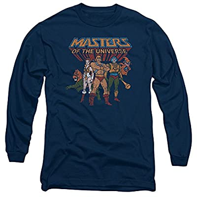Masters Of The Universe Animated TV Series Hero Characters Adult LSleeve T-Shirt