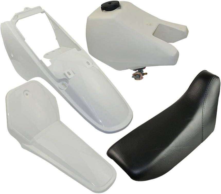 FLYPIG Plastic Seat Gas Tank Kit White For Yamaha PW80 PW 80