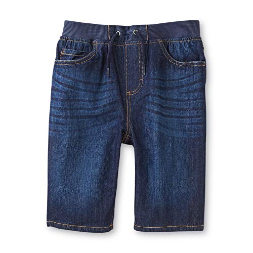 - Boys Denim Bermuda Shorts by Basic Editions, Elastic Stretch Waist, Sizes: XS, S, M, L and XL (Small (6/7))