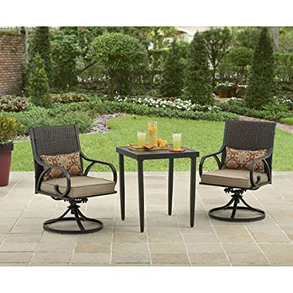 Amazoncom Better Homes and Gardens 3 Piece Layton Ridge Bistro