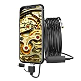 Vosarea High-Definition Industrial Endoscope Borescope Inspection Camera Waterproof for Phones and PC 720P 3.9mm