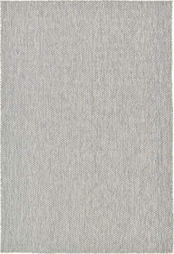 Unique Loom Outdoor Solid Collection Casual Transitional Indoor and Outdoor Flatweave Light Gray  Area Rug (6' 0 x 9' 0) (Jute Rug 8x10 Outdoor)