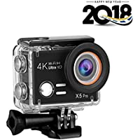 Esoku Action Camera , 20MP Ultra HD Waterproof Sports Camera 1080P 4K WiFi Underwater DV Camcorder With Accessories Kits