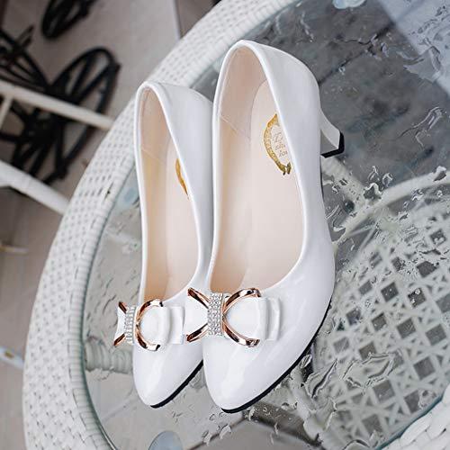 Arc Escarpins Blanc Nouveau Chaussons Chaussures Talon Bouche Ronde Moyen Tête Peu Simples Sandales Sexy Femme Profonde Manadlian Ete À Antidérapante 2019 wrXqng0qRI