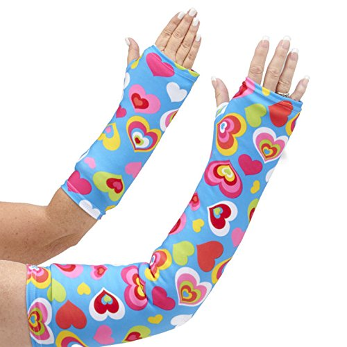 "CastCoverz! Designer Arm Cast Cover - Happy Hearts - Medium Long: 21"" Length X 12"" Circumference - Removable and Washable - Made in USA"
