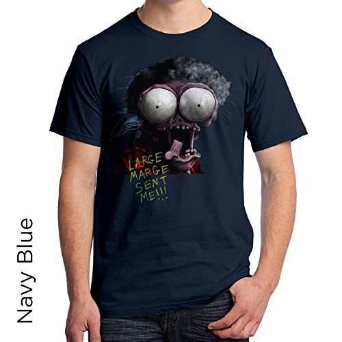 Large Marge from Pee Wees Big Adventure Men's T-Shirt 379 (X-Large, Navy)
