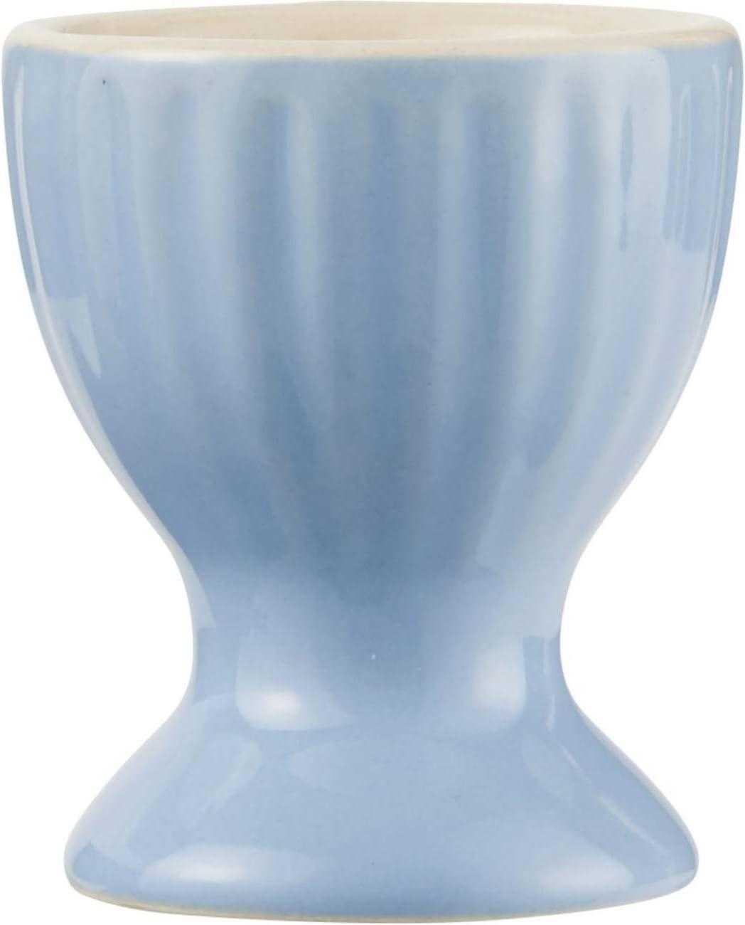 CREAFLOR HOME 6er Set Eierbecher MYNTE Nordic Sky hellblau H 6cm D 5cm Steingut Ib Laursen