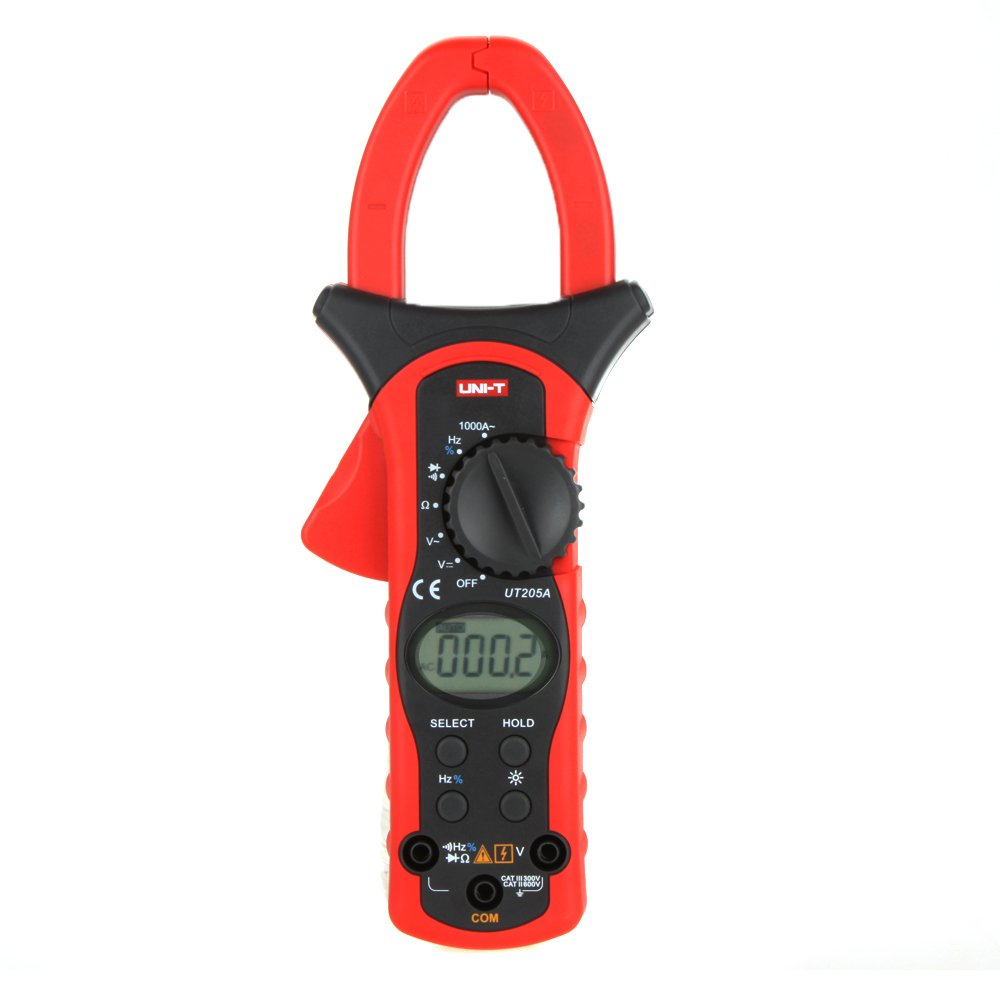 UNI-T UT205A Auto Range LCD Backlight 1000A Digital Clamp Meters w/ Frequency & Duty Cycle Test by KKmoon