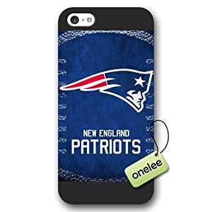Personalize NFL New England Patriots Team Logo Frosted Case For HTC One M8 Cover Black Case CovBlack