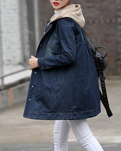 Femme Denim Jeans Manteaux Bouton Jeans Manteaux Bouton Femme Femme Denim rwBUCqr