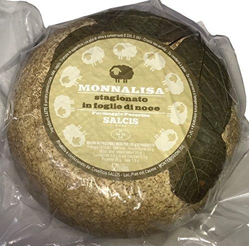 SALCIS MonnaLisa Stagionato in Foglie di noce Pecorino Cheese Whole Wheel Approx. 2.75 Lbs. by SALCIS (Image #1)