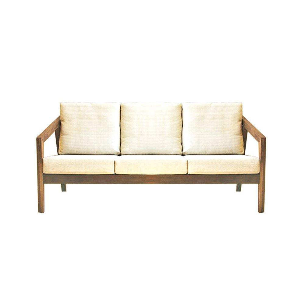 NEOWISER Lounge 3 Sitzer Sofa Massivholz Mit Rückenkissen 173x 80 x 85 CM Wohnzimmer Möbel