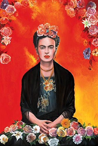 Poster Frida Kahlo  Printed on Paper 24x36in Meditation with