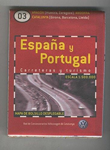 Mapa de bolsillo desplegable España y Portugal numero 03: Amazon.es: Varios: Libros