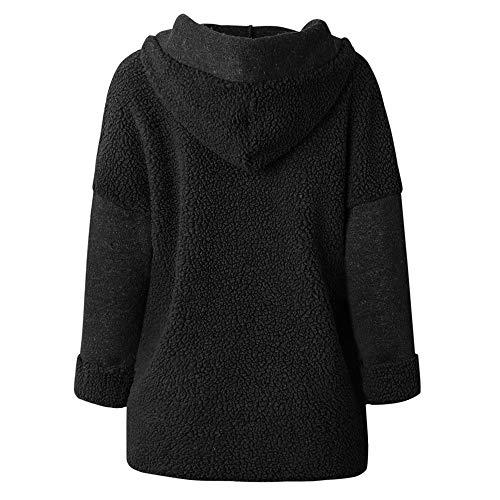 Sweaters Kaki Femme Coat Manteau Noir GongzhuMM Blousons 46 Automne Outwear Parka Furry Capuche Hiver Polaire EU Noir Dame Veste Patchwork pour 40 Jaune SaYgg