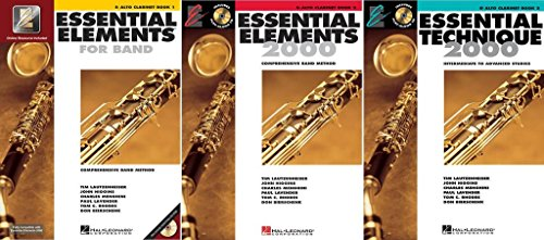 Essential Elements for Band - Alto Clarinet, Books 1-3, 3 Book Set