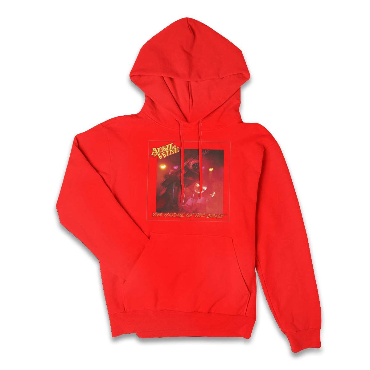 Erman Color Name Casual April Wine Music Band Cover Pullover Hooded Shirts With Pocket L