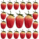 IETONE 20 Pcs Artificial Strawberries Lifelike