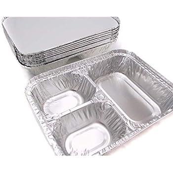 Amazon Com Disposable Aluminum 3 Compartment T V Dinner