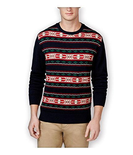 - Weatherproof Mens Vintage Fair Isle Shawl Sweater darknavy M