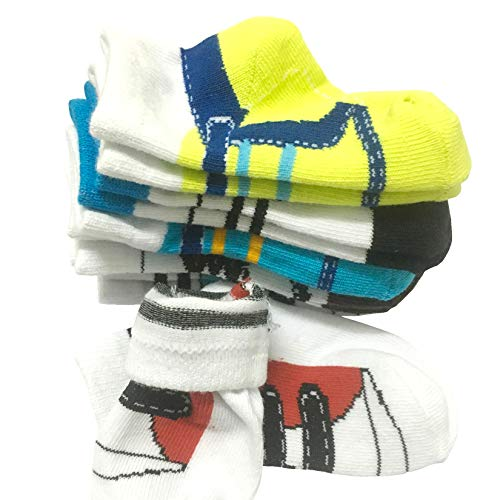 6 Pairs 0-10 month Baby Newborn Ankle Sock Toddler Crew Walkers Bootie Infant Socks (Mixed style 2) by Fly-Love (Image #6)