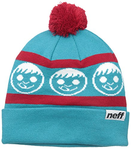 NEFF Men's Standard Beanie, Teal/Red, One Size (Neff Beanie Young Men)