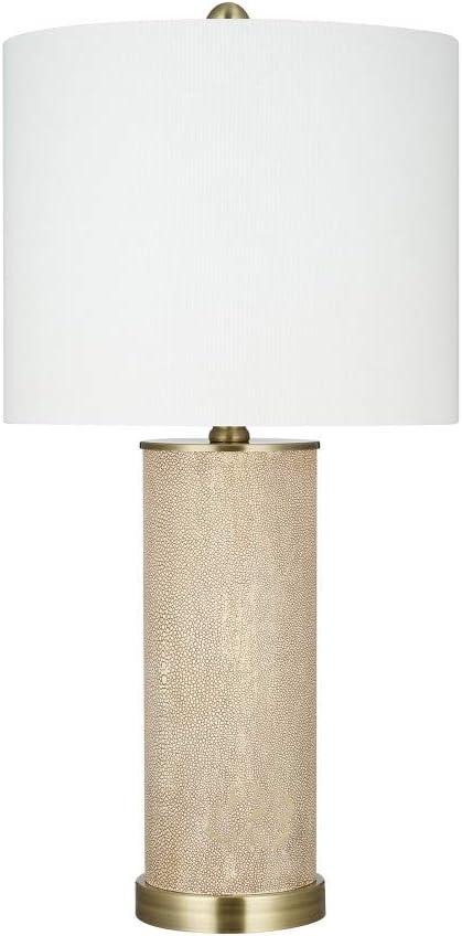 "Amazon Brand – Rivet Modern Shagreen Table Lamp, LED Bulb Included, 25""H, Beige"