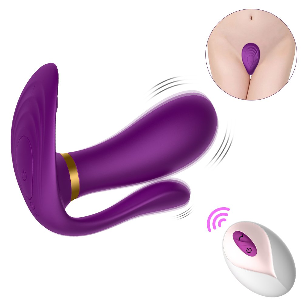 Utimi Wearable Panty Vibrator Wireless Dildo Vibrator with Remote Control Waterproof Clitoris Stimulator Vagina Massager for Women or Couple,Purple