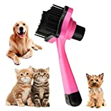 Pet Dog Cat Hair Fur Grooming Self Cleaning Slicker Brush Comb Tool Free Shipping