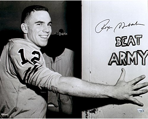 """Roger Staubach Navy Midshipmen Autographed 16"""" x 20"""" Beat Army Photograph - Fanatics Authentic Certified from Sports Memorabilia"""