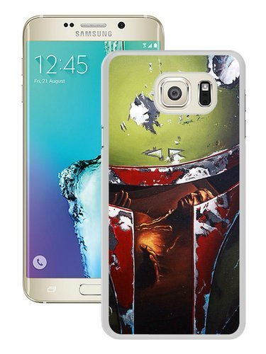 Hot Sale Samsung Galaxy S6 Edge Plus Case ,Unique And Durable Designed Case With Star War Boba Fett Green Helmet Creative white Samsung Galaxy S6 Edge+ Cover Phone Case
