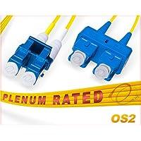 OS2 LC SC Plenum Duplex Fiber Patch Cable 9/125 Singlemode - 65 Meter