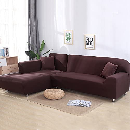High Elastic Sofa Cover Solid Color Couch Case Furniture Slipcover 1//2//3//4 Place