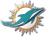 """FANMATS NFL Miami Dolphins Die Cut Color Automobile Emblem, Team Color, 4"""""""
