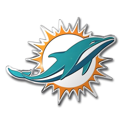 NFL Miami Dolphins Die Cut Color Automobile - Mall Dolphin Miami