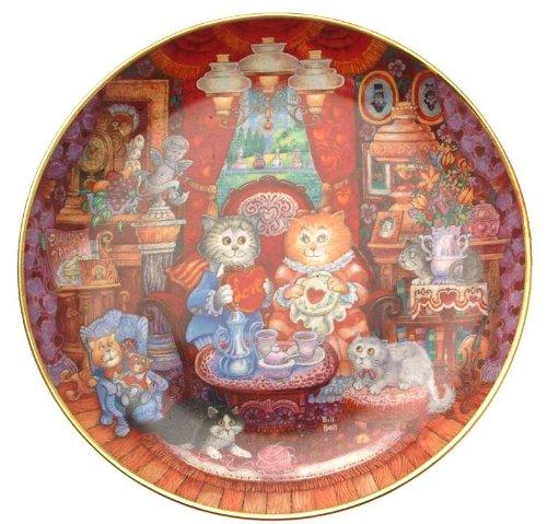 Franklin Mint Whisker Wuv Bill Ben cat plate CP1994 - Franklin Mint Cat Plate