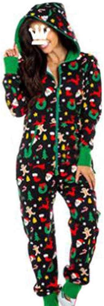 Ladies Fleece Onesies All in One Piece Pyjamas Printed Sleep Suit Onesie PJS Nightwear
