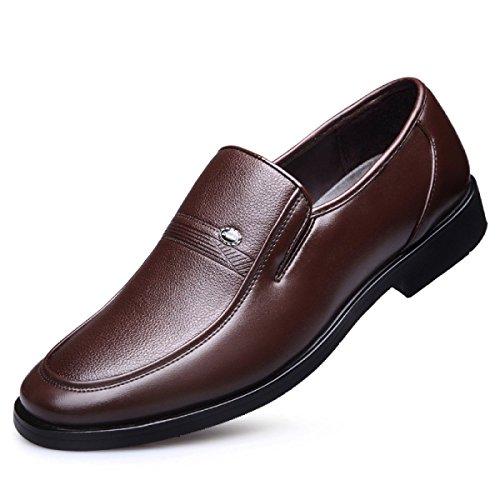 NBWE Les Chaussures Habillées Respirantes D'affaires D'hommes Ont Placé Des Chaussures Occasionnelles Quotidiennes De Pied Brown wy0JUfwvFi